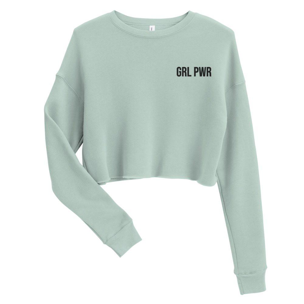 GRL PWR Crop Sweatshirt (Embroidered)
