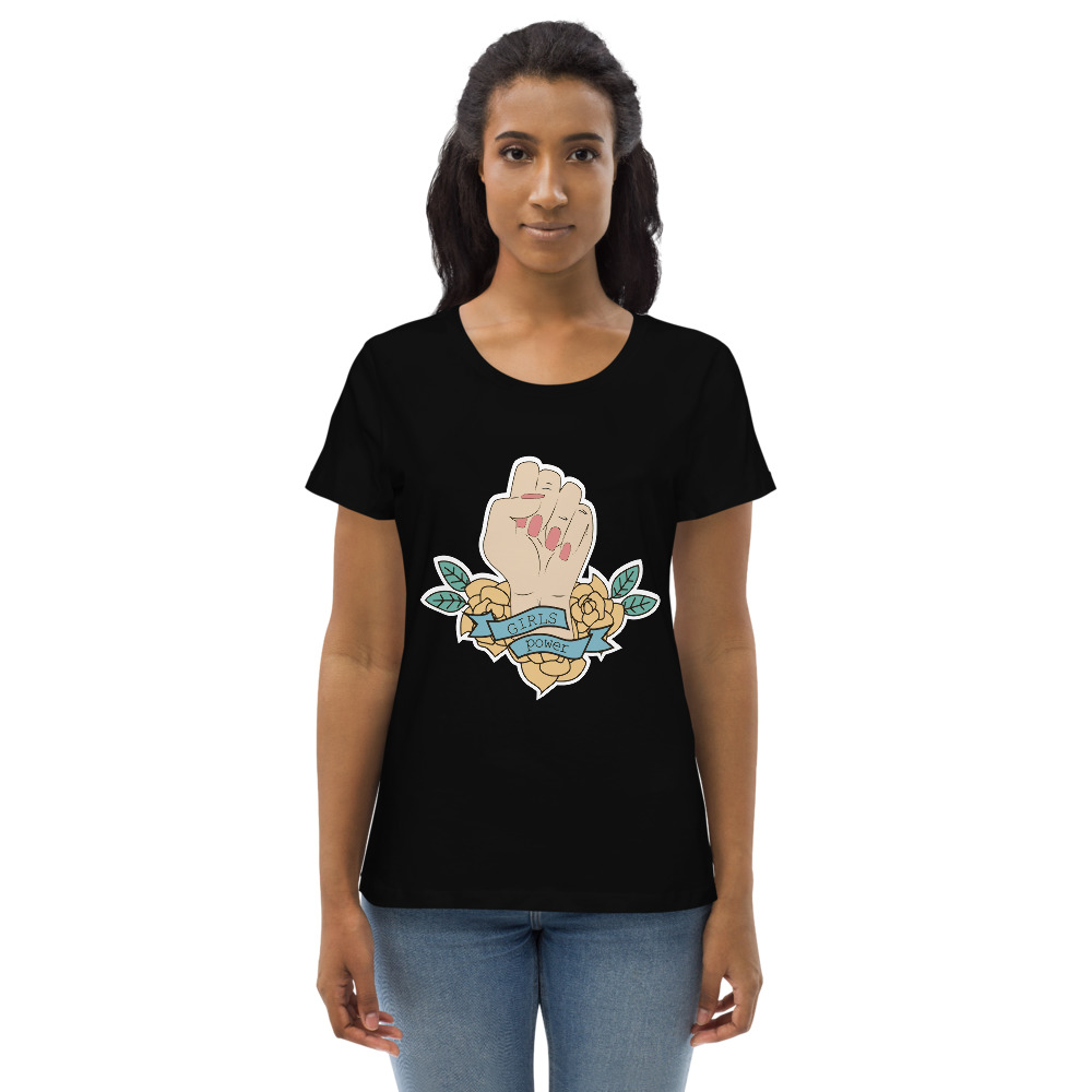 Girls Power Fitted Eco Tee