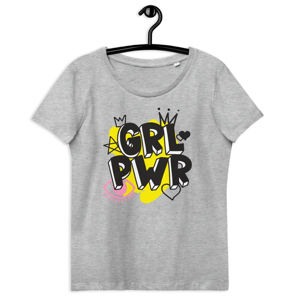 GRL PWR Organic Fitted Eco Tee
