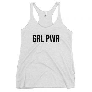 GRL PWR Feminist Racerback Vest (Tank)