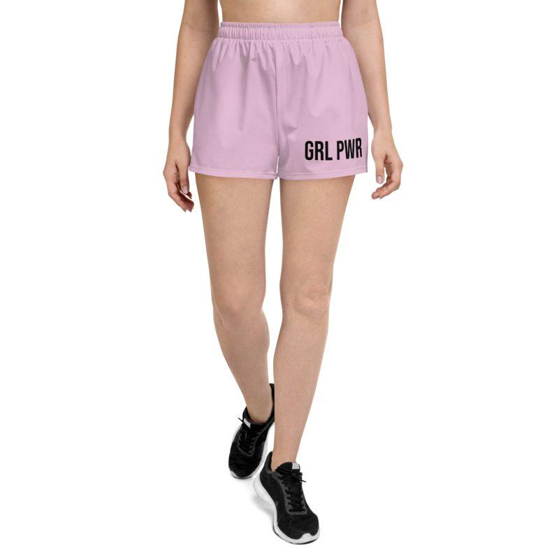 GRL PWR Athletic Pink Short Shorts