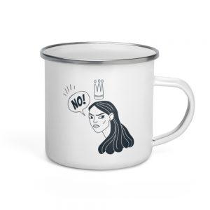 NO! Enamel Mug