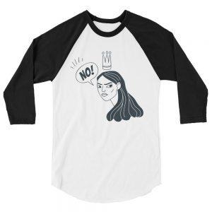 NO! 3/4 Sleeve Raglan Shirt