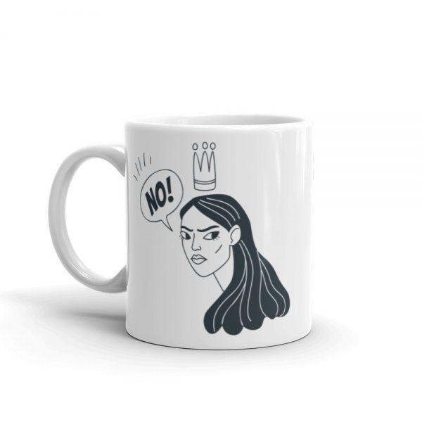 NO! White Glossy Mug