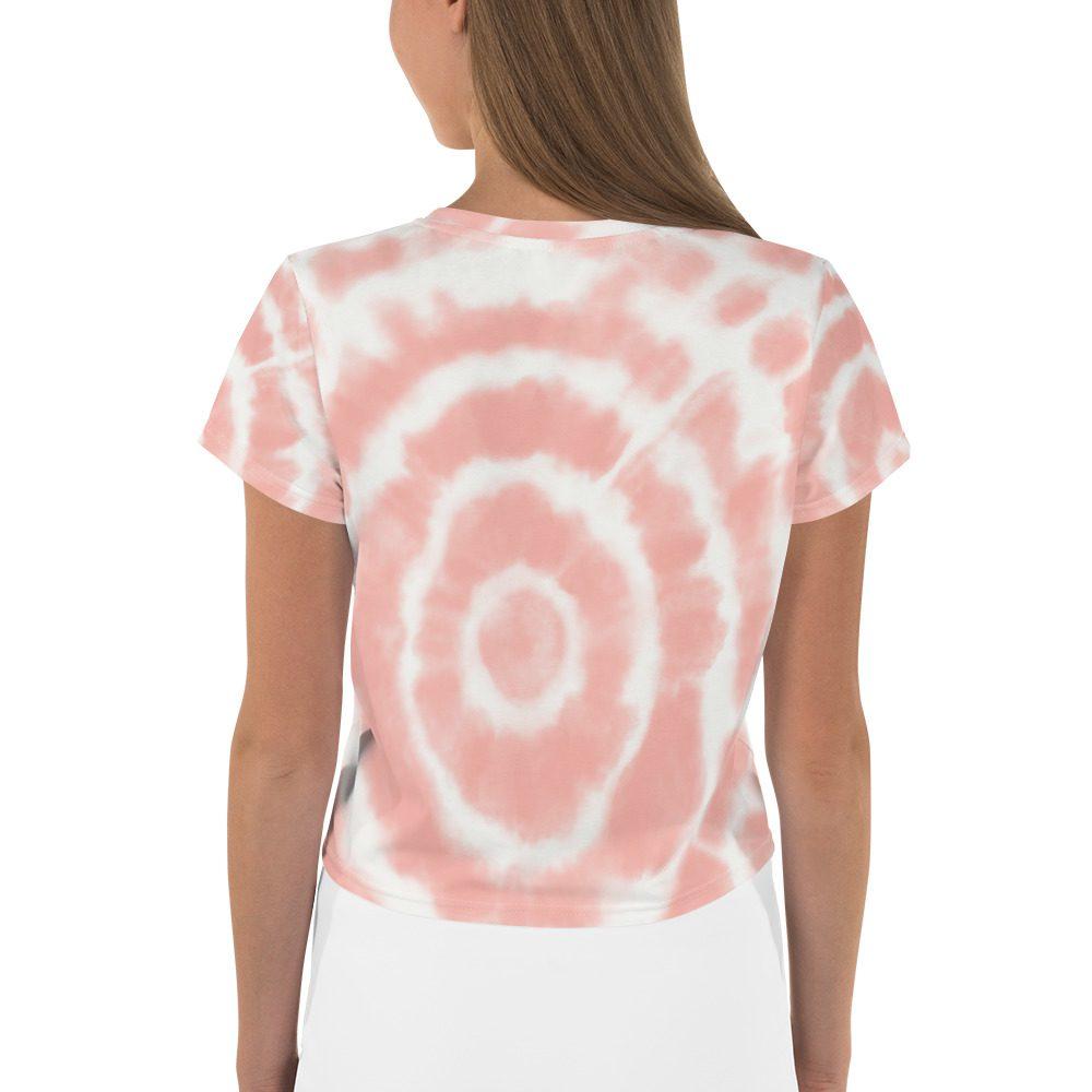 GRL PWR Pink Tie Dye Crop Tee