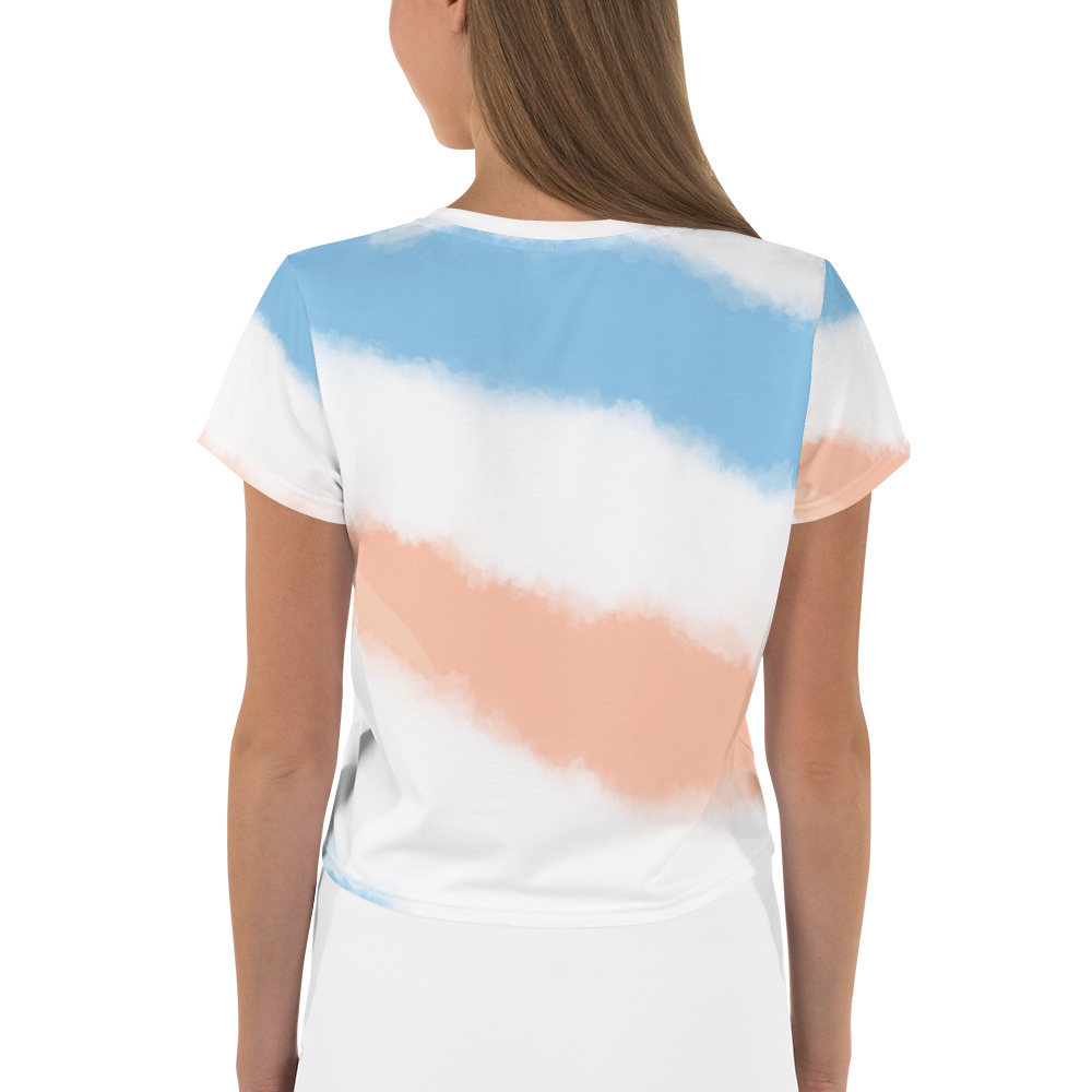 Feminist All-Over Print Crop T-Shirt