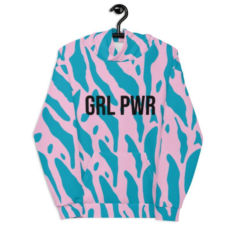 GRL PWR Leopard Print Hoodie