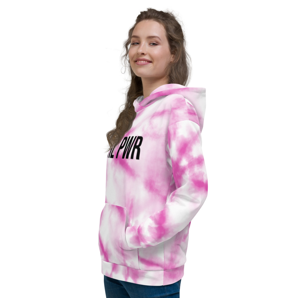 GRL PWR Pink Tie Dye Hoodie