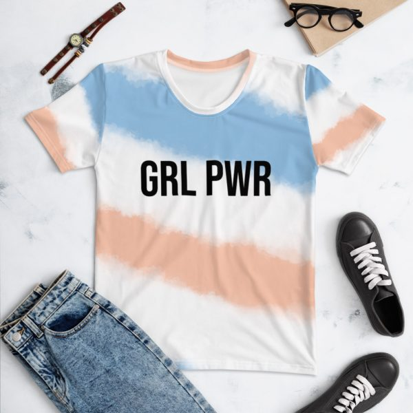 GRL PWR All-Over Print T-shirt