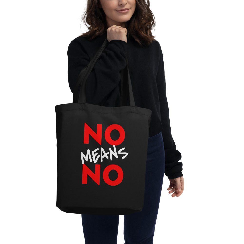 No Means No Organic Tote Bag