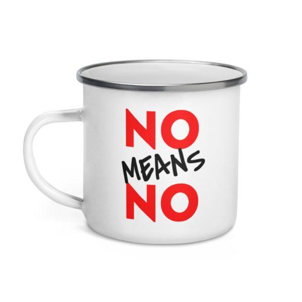No Means No Enamel Mug
