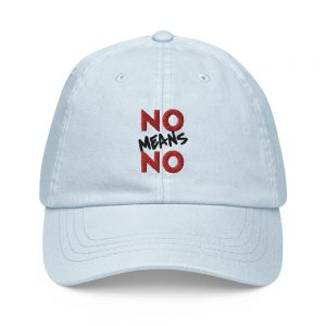 No Means No Pastel Baseball Hat