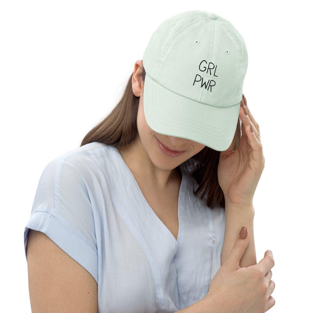 GRL PWR Embroidered Pastel Baseball Hat