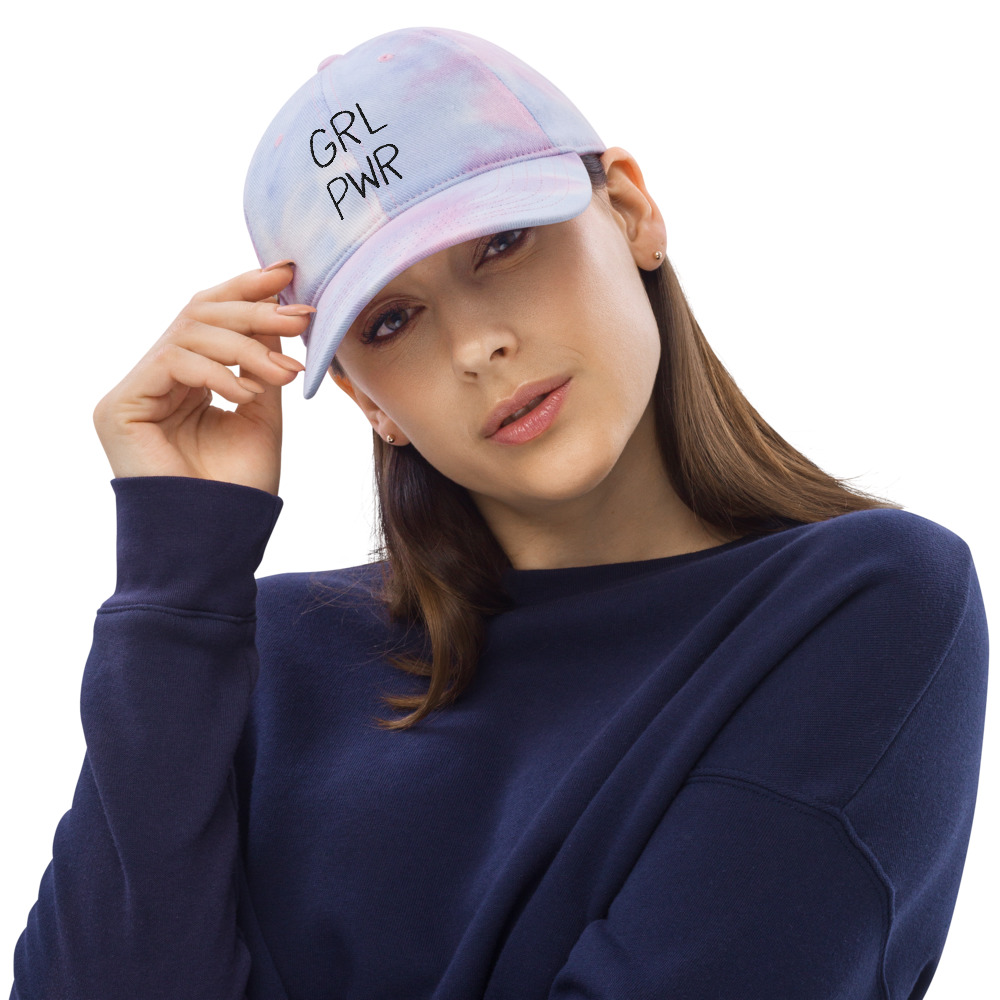 GRL PWR Embroidered Tie Dye Hat