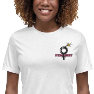Feminist Embroidered Relaxed T-Shirt