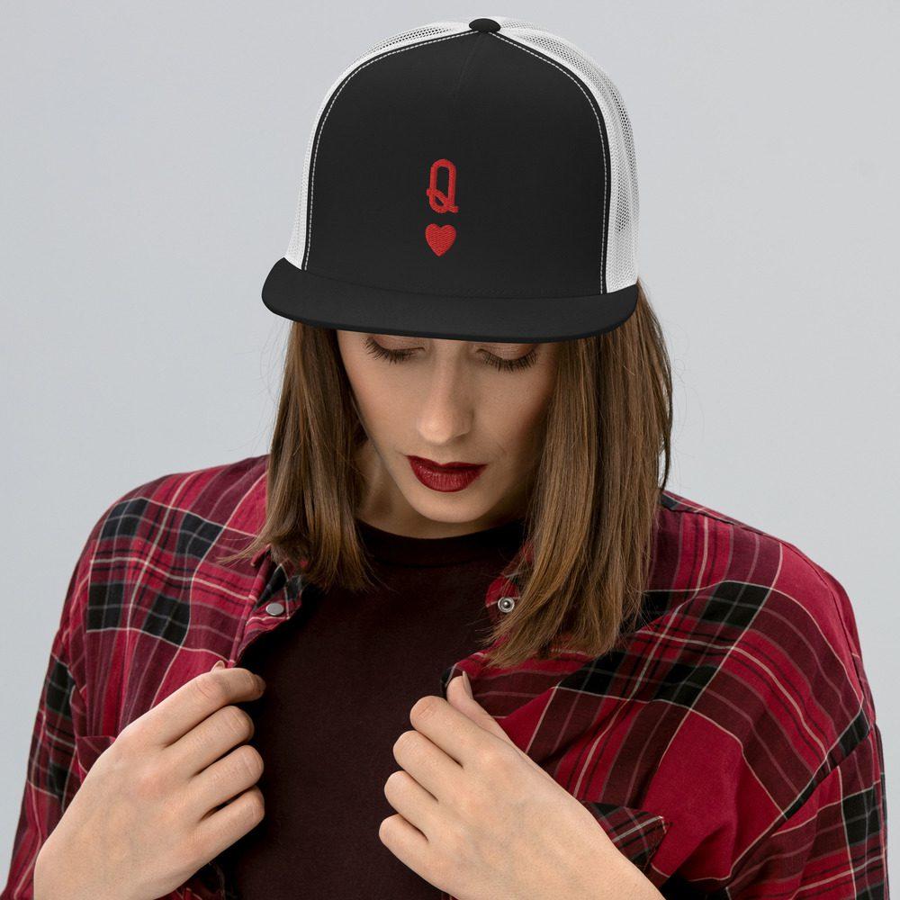 Queen of Hearts Trucker Cap