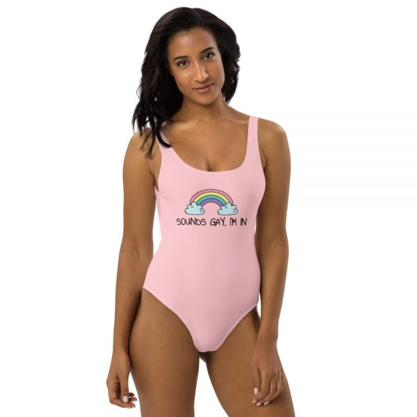 Sounds Gay, I'm In LGBT+ Pride One-Piece Swimsuit