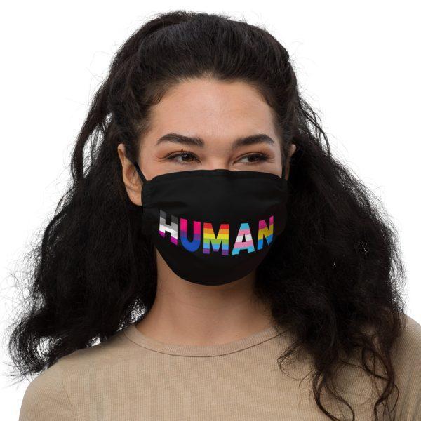 Human LGBT Pride Premium Face Mask