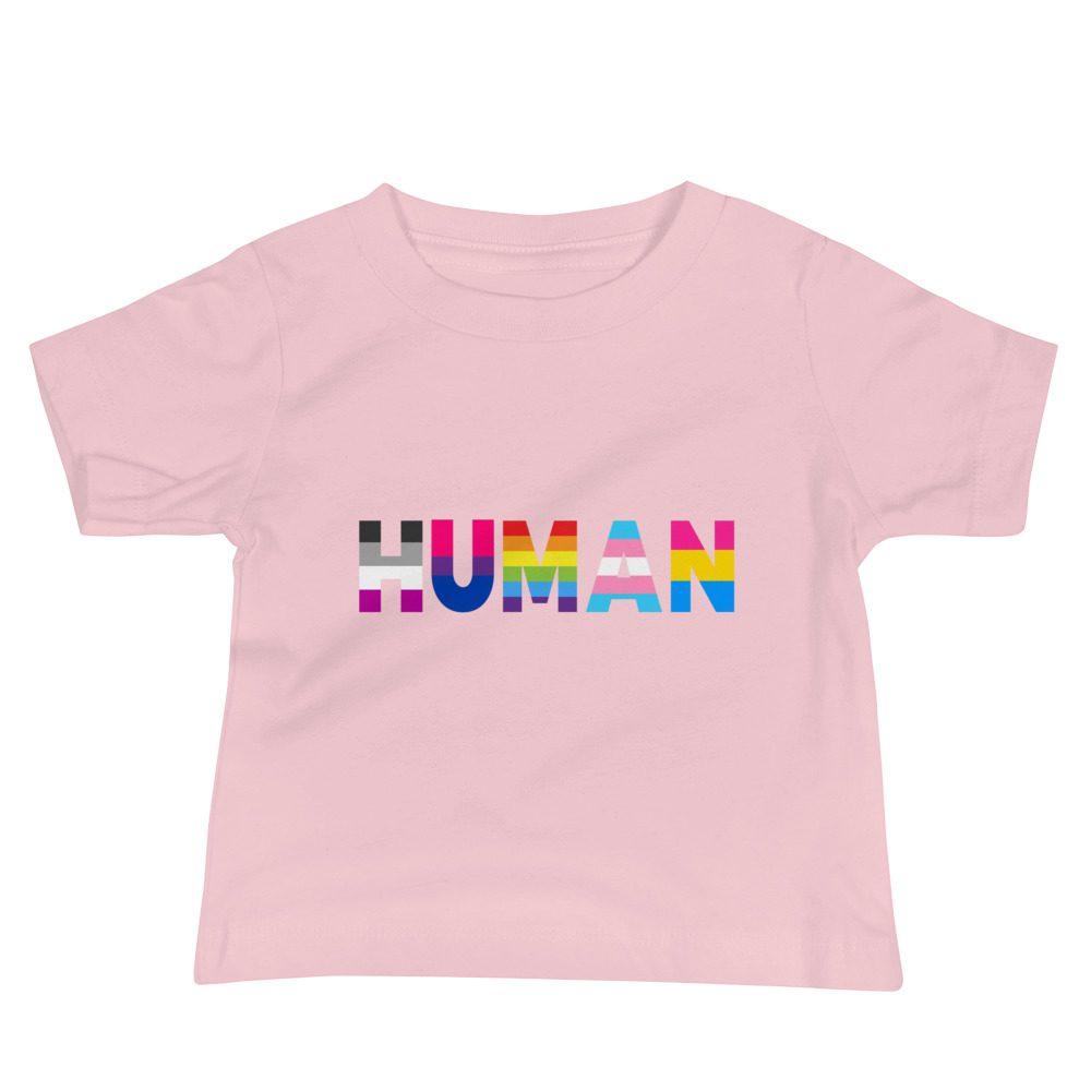 Human LGBT Pride Baby Jersey Short Sleeve T-shirt