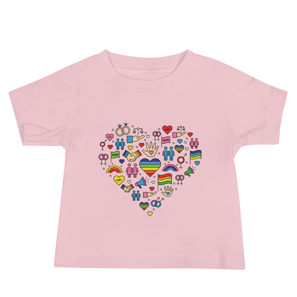 LGBT+ Pride Icons Baby Jersey T-shirt