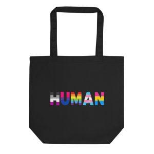 Human LGBT Pride Organic Tote Bag