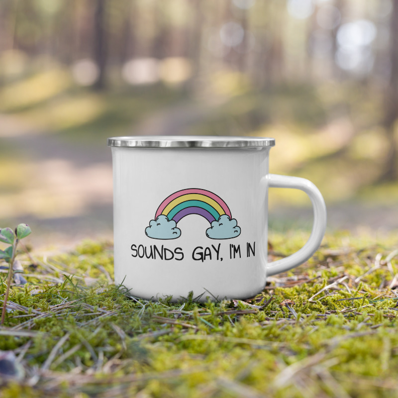 Sounds Gay, I'm In LGBT+ Pride Enamel Mug