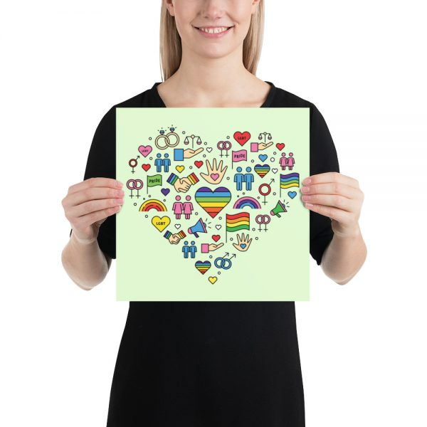 LGBT+ Pride Icons Poster