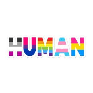 Human LGBT Pride Bubble-free Stickers
