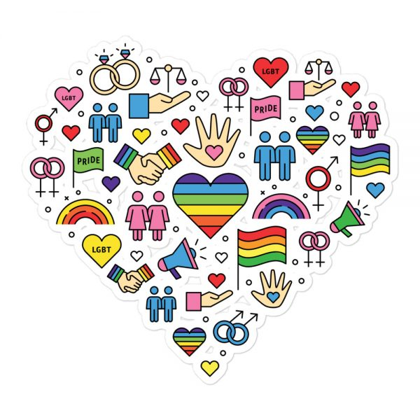 LGBT+ Pride Icons Bubble-free Stickers