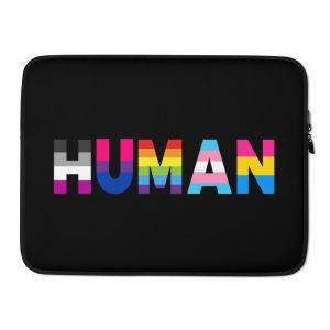 Human LGBT Pride Laptop Sleeve