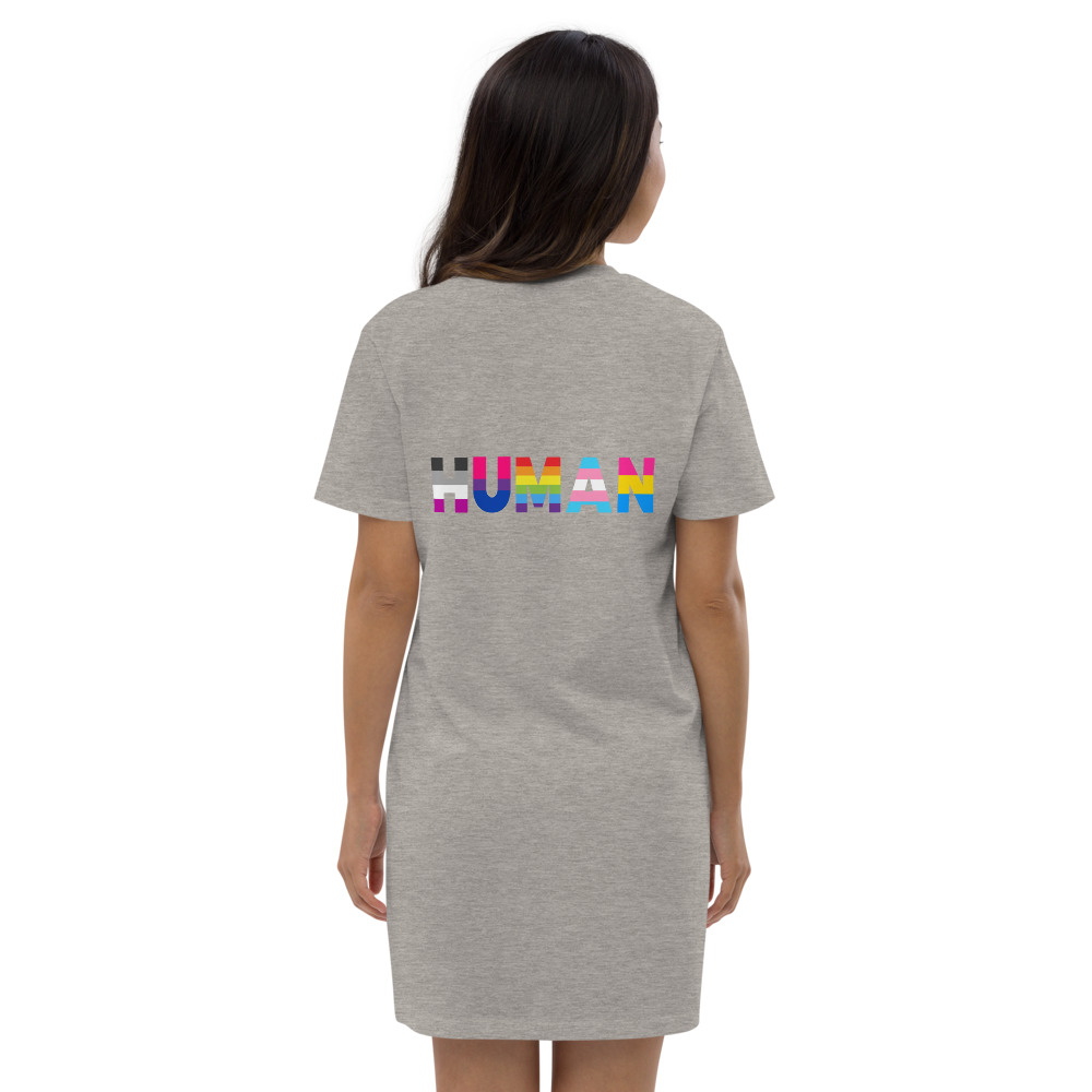 Human LGBT Pride Organic Cotton T-shirt Dress