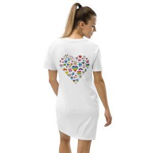 LGBT+ Pride Icons Organic Cotton T-shirt Dress