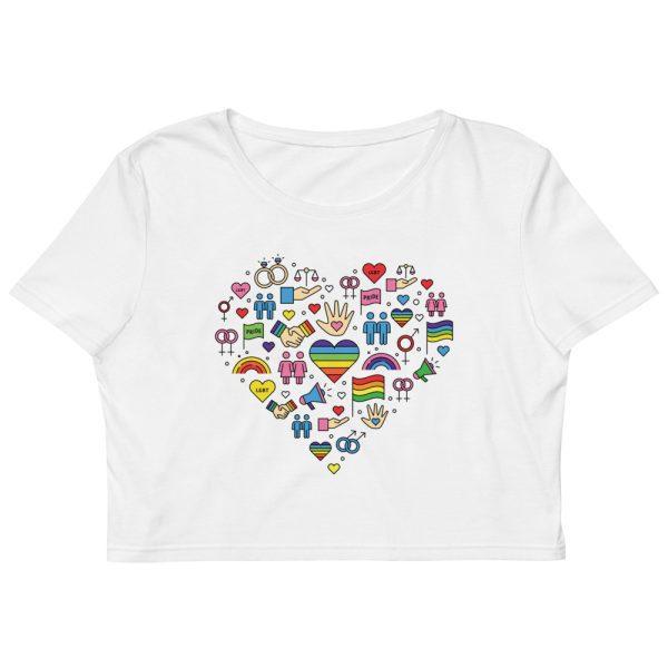 LGBT+ Pride Icons Organic Crop Top
