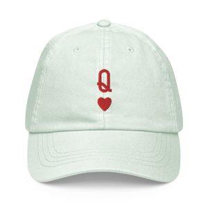 Queen of Hearts Pastel Baseball Hat