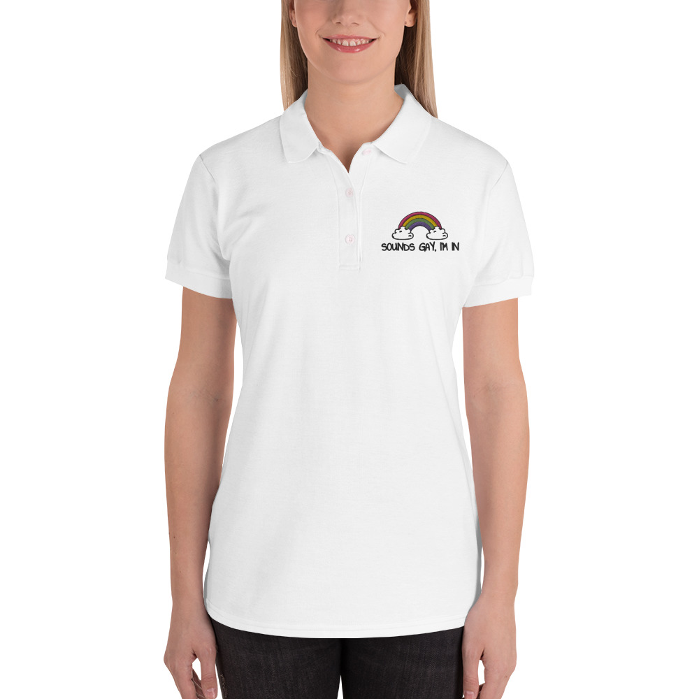 Sounds Gay, I'm In LGBT+ Pride Embroidered Polo Shirt