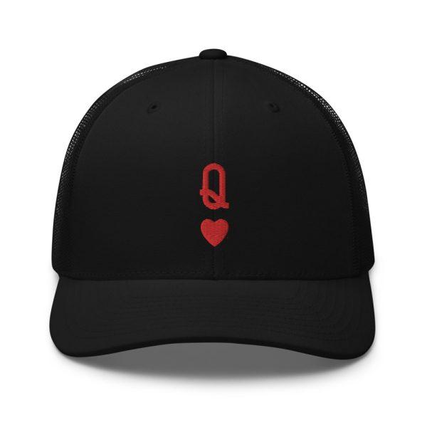 Queen of Hearts Retro Trucker Cap