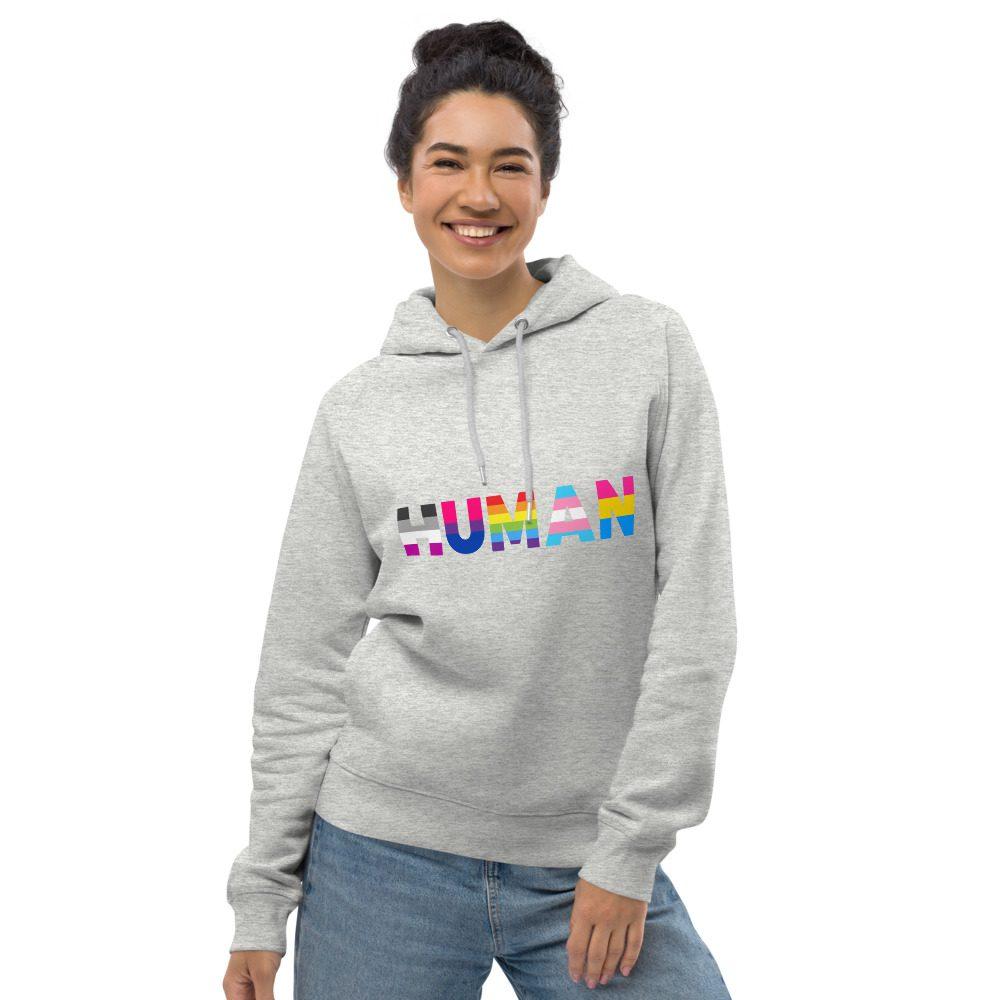 Human LGBT Pride Organic Pullover Hoodie