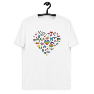 LGBT+ Pride Icons Organic Cotton T-shirt