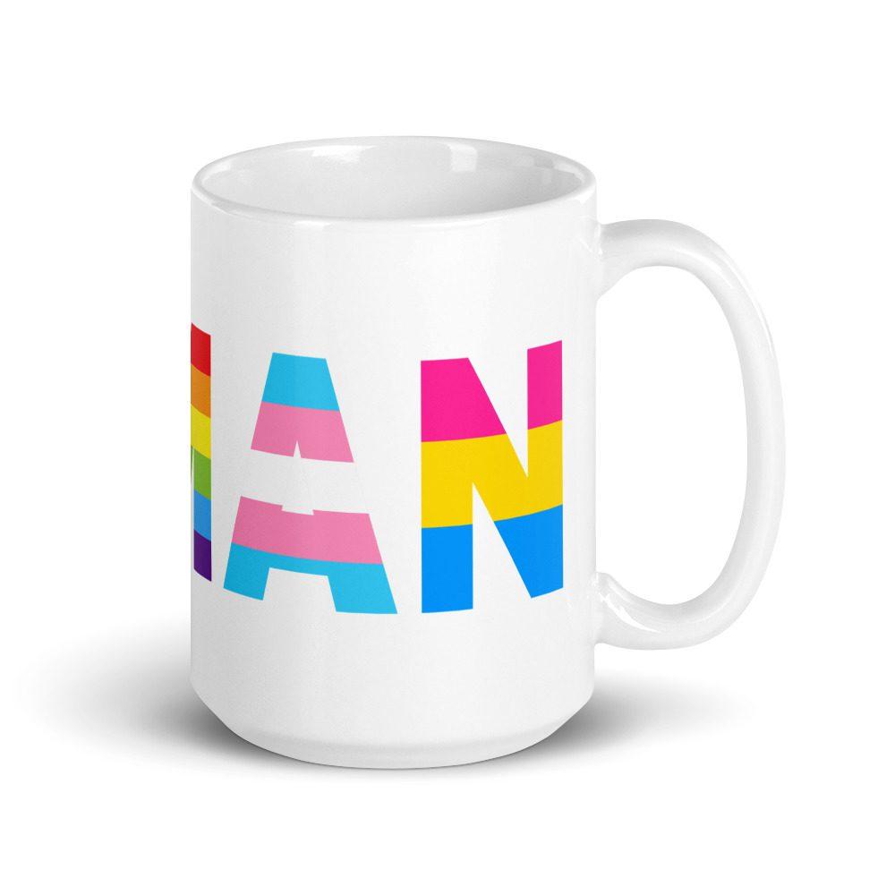 Human LGBT Pride White Glossy Mug