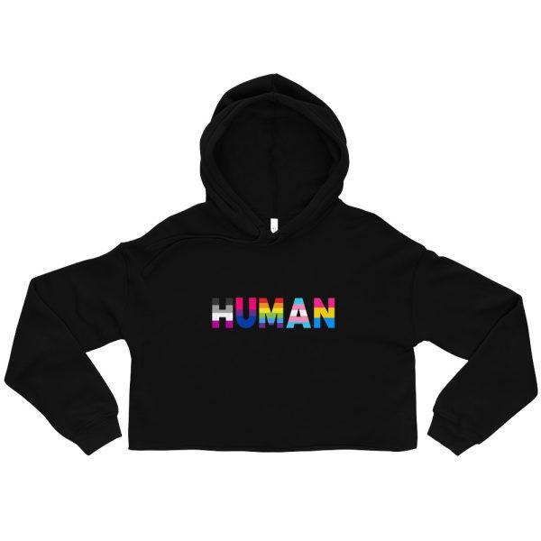 Human LGBT Pride Crop Hoodie