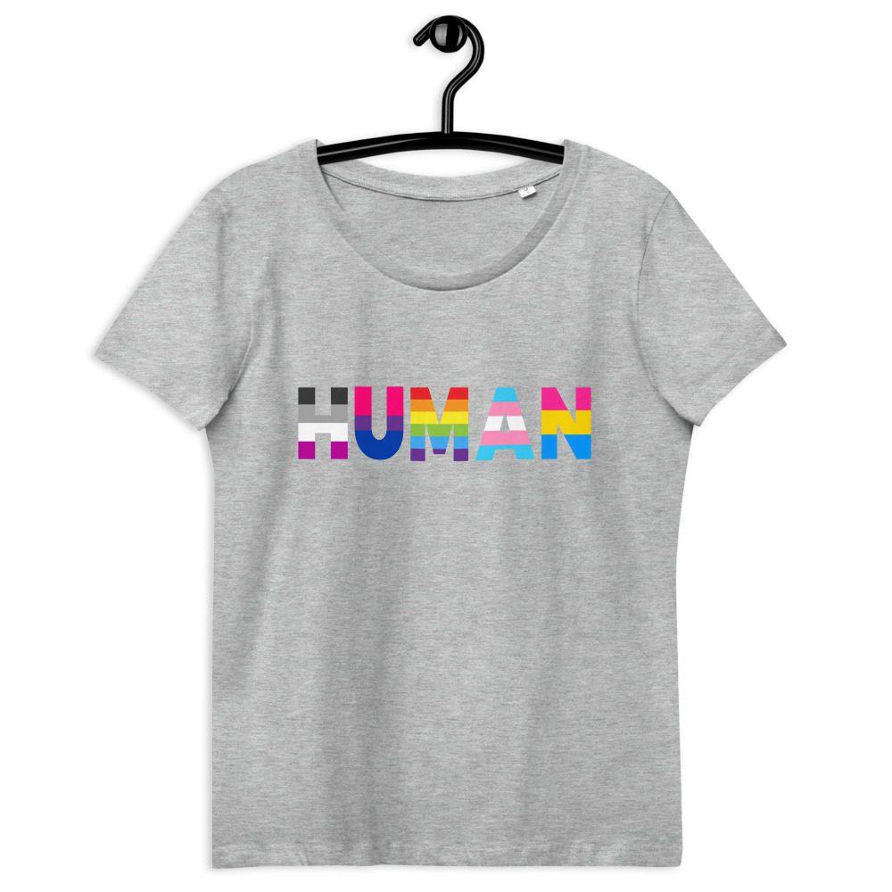 Human LGBT Pride Fitted Organic T-shirt