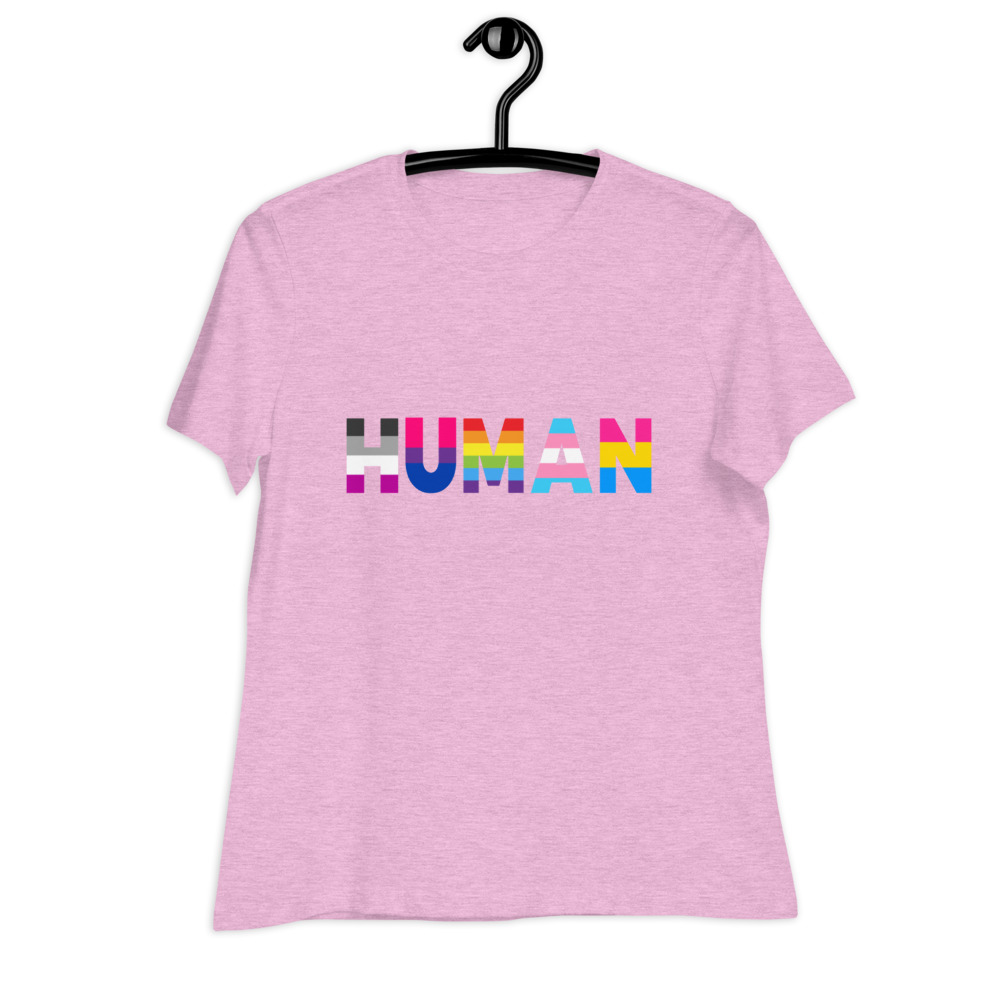 Human LGBT Pride Relaxed T-Shirt