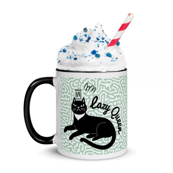 Lazy Queen Mug with Color Inside