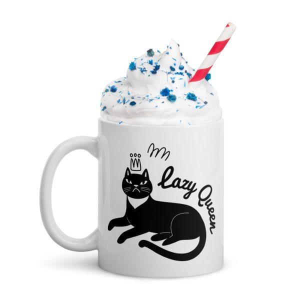 Lazy Queen White Glossy Mug