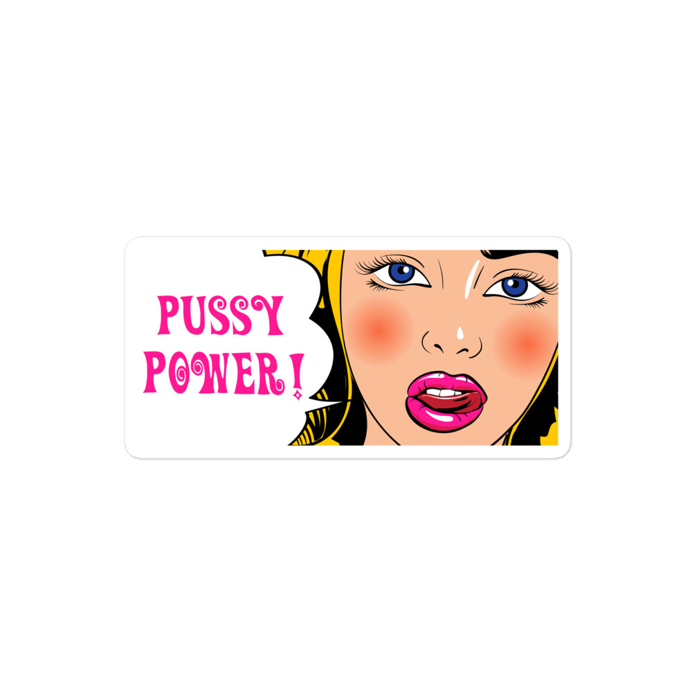 Pussy Power! Comic Bubble-free stickers