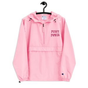 Pussy Power Embroidered Champion Packable Jacket